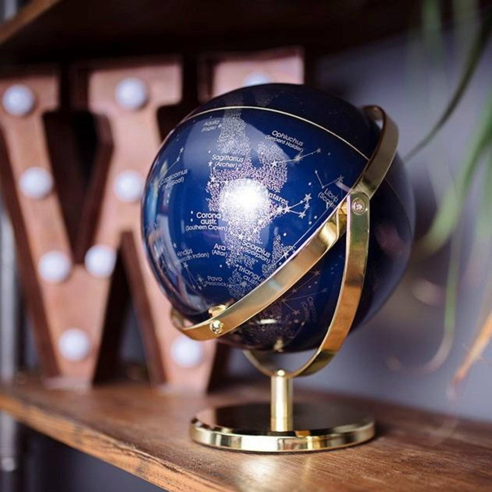 WILD + WOLF 8 Inch Night Sky Globe with Swivel Stand