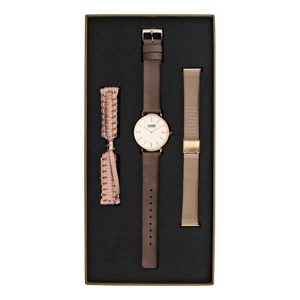 LUND LONDON Watch Set No 3 - Rose Gold & Nude