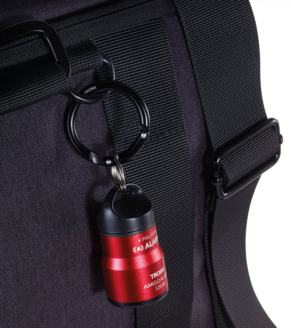 TROIKA Handbag Alarm And Keyring With Carabiner