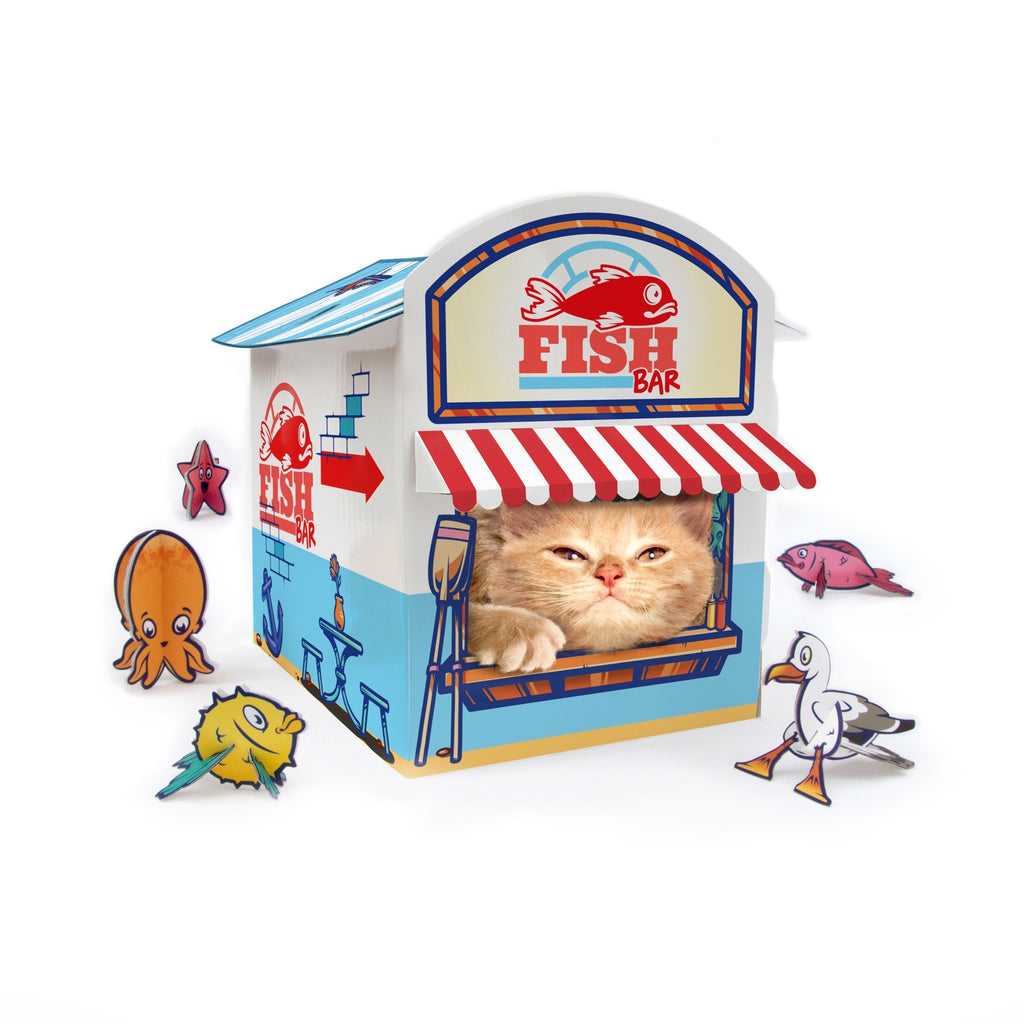 SUCK UK Cat Kiosk Play House