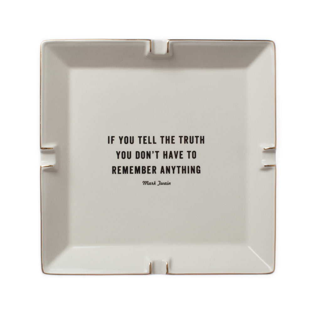 ATLANTIC FOLK Ceramic Desk Tidy Twain 'If you tell the truth...'