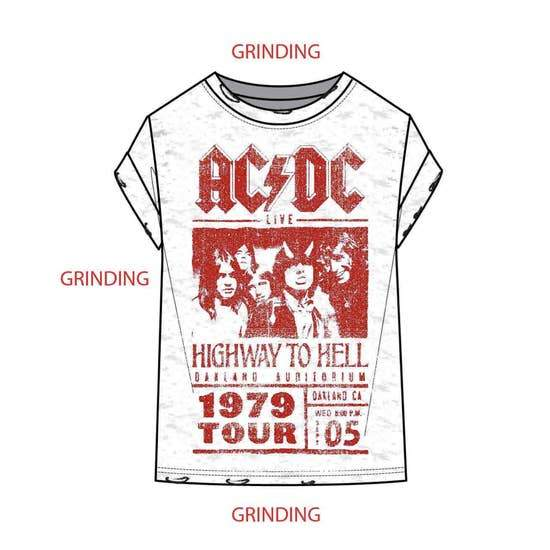 RECYCLED KARMA - AC/DC Poster Short Sleeve T-Shirt