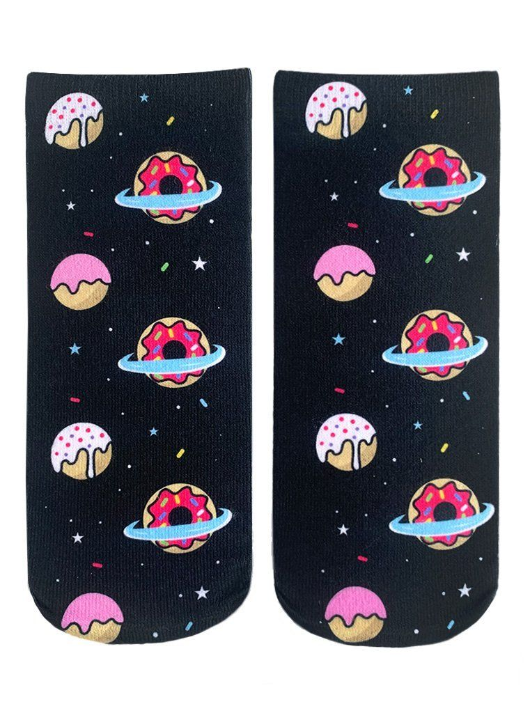 LIVING ROYAL Galaxy Donut Ankle Socks