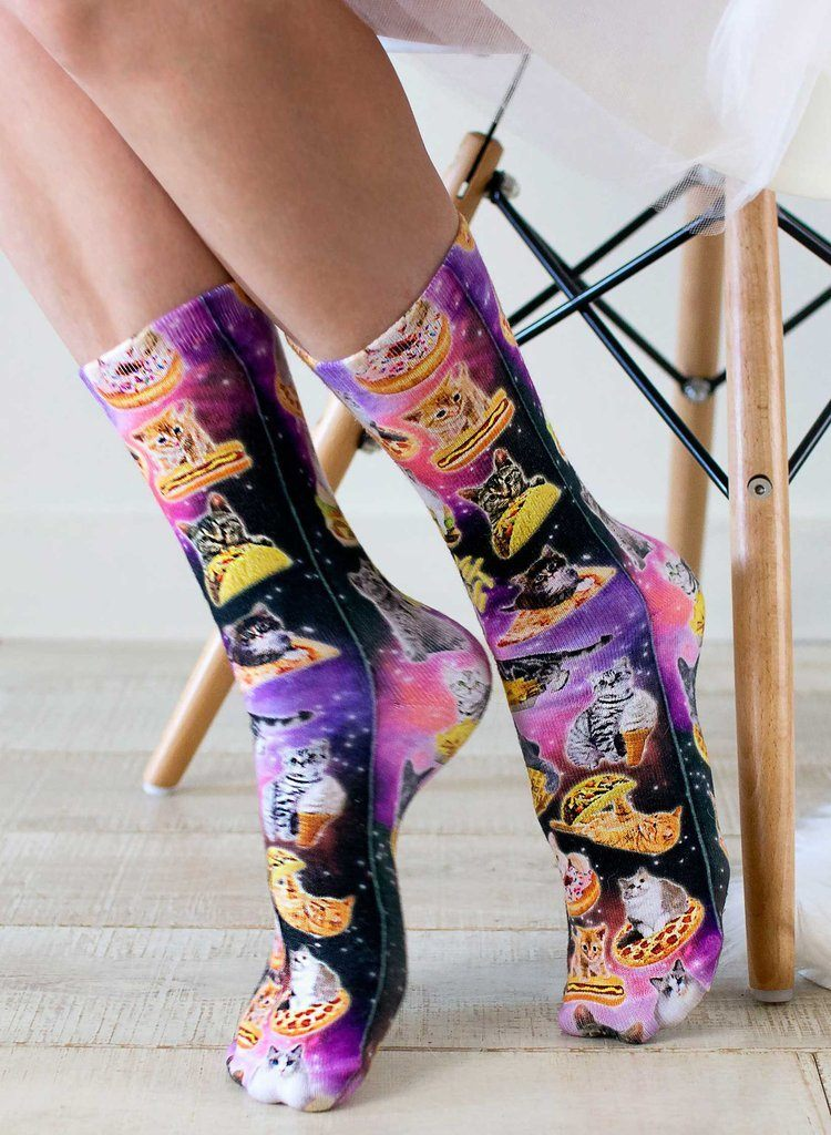 LIVING ROYAL Cat Cravings Crew Socks