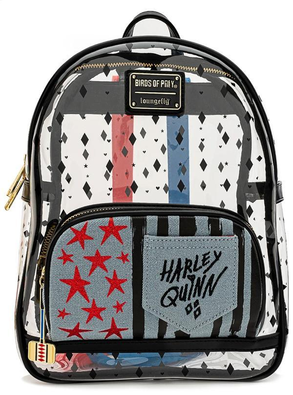 LOUNGEFLY x DC Birds Of Prey - Harley Quinn Clear Mini Backpack