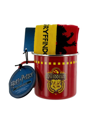 Gryffindor Quidditch Tin Mug & Sock Set