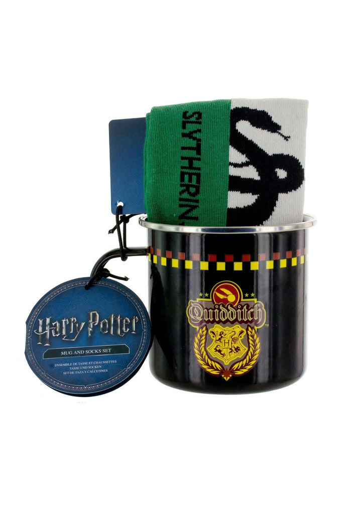 HARRY POTTER Slytherin Quidditch Tin Mug & Sock Set