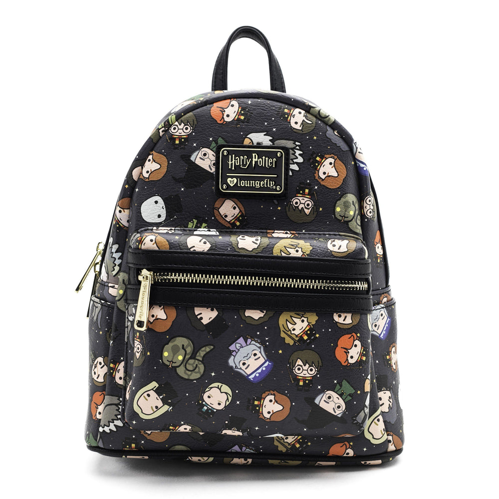 LOUNGEFLY Harry Potter Chibi Character Print Mini Backpack