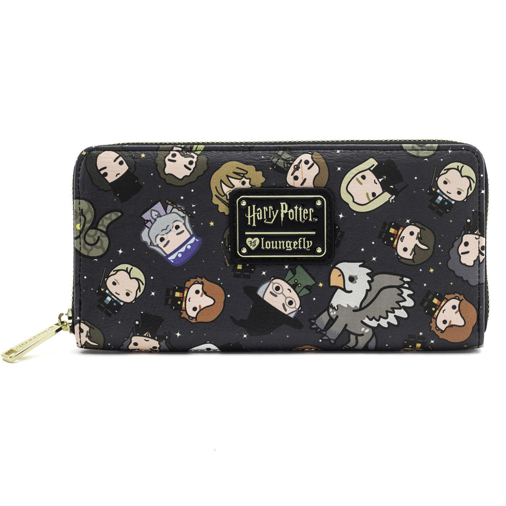 LOUNGEFLY Harry Potter Chibi Character Print Wallet