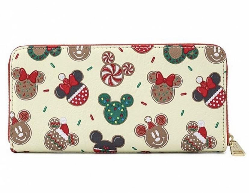 COMING SOON! LOUNGEFLY x DISNEY Christmas Mickey & Minnie Cookies Wallet
