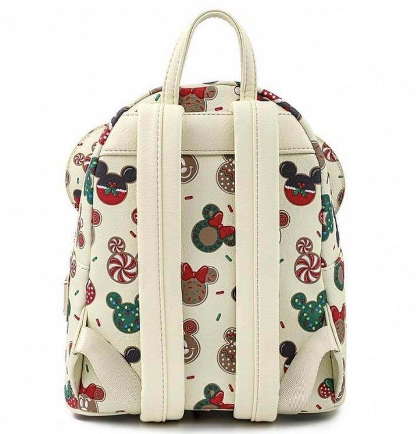 LOUNGEFLY x DISNEY Christmas Mickey & Minnie Cookies Mini Backpack With Ears
