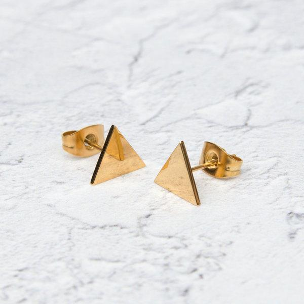 KUKU LDN Triangle Earrings
