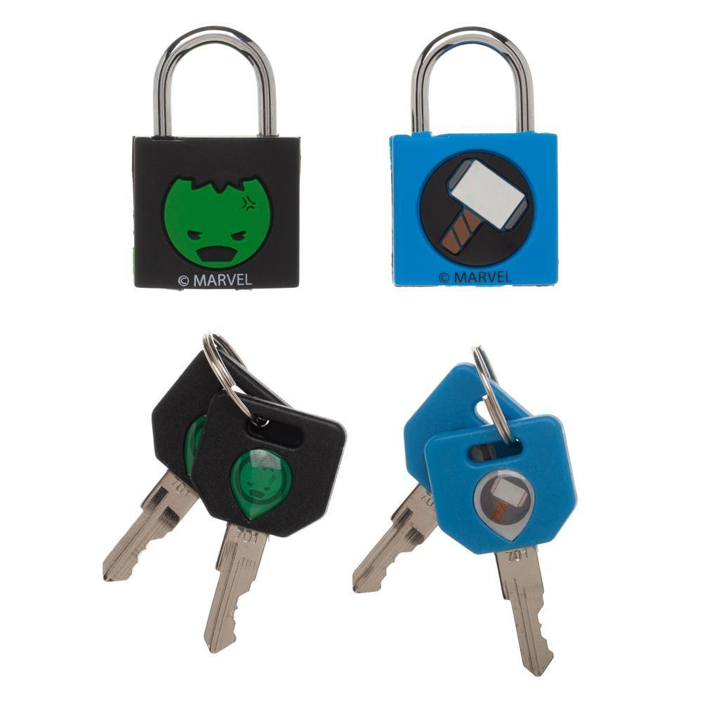 MARVEL Hero Padlocks : Thor and Hulk 2PK