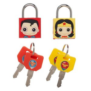DC Hero Padlocks : Superman and Wonder Woman 2PK