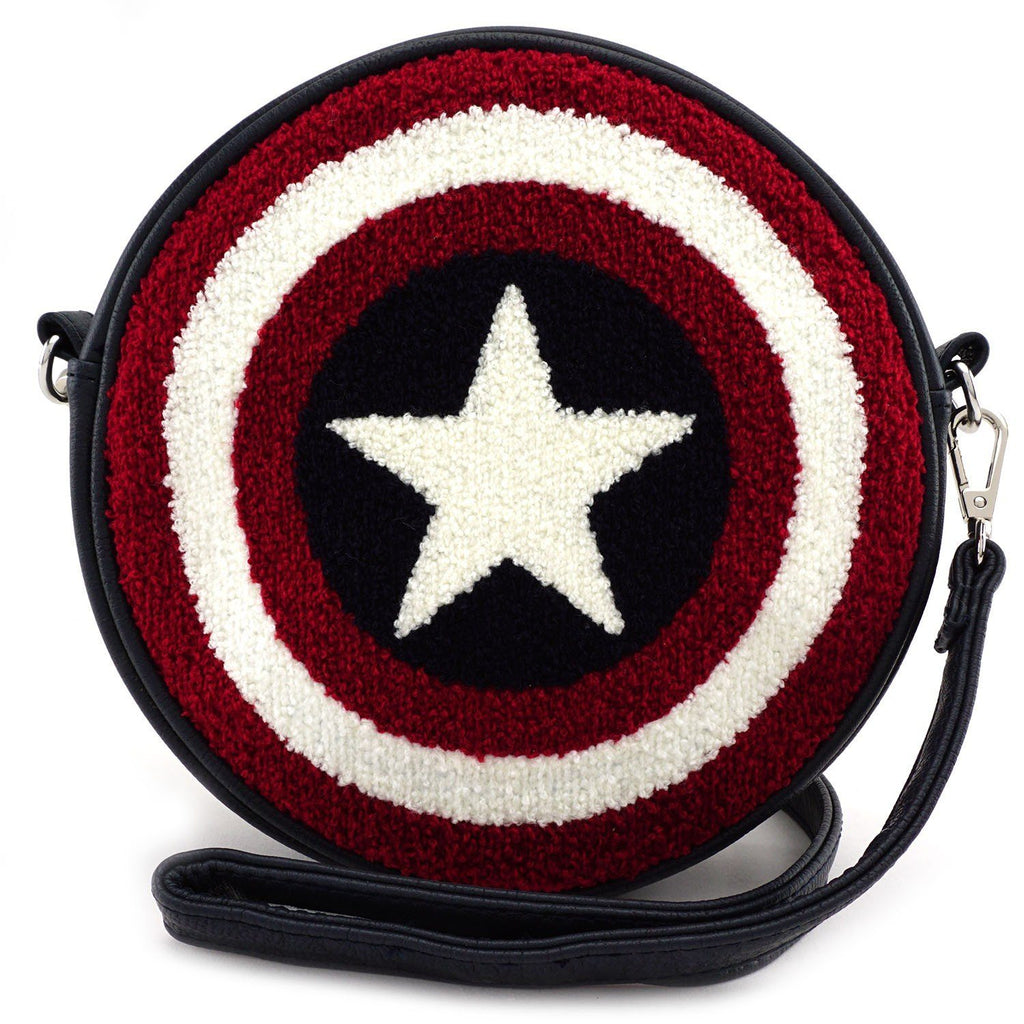 LOUNGEFLY Captain American Shield Crossbody Bag