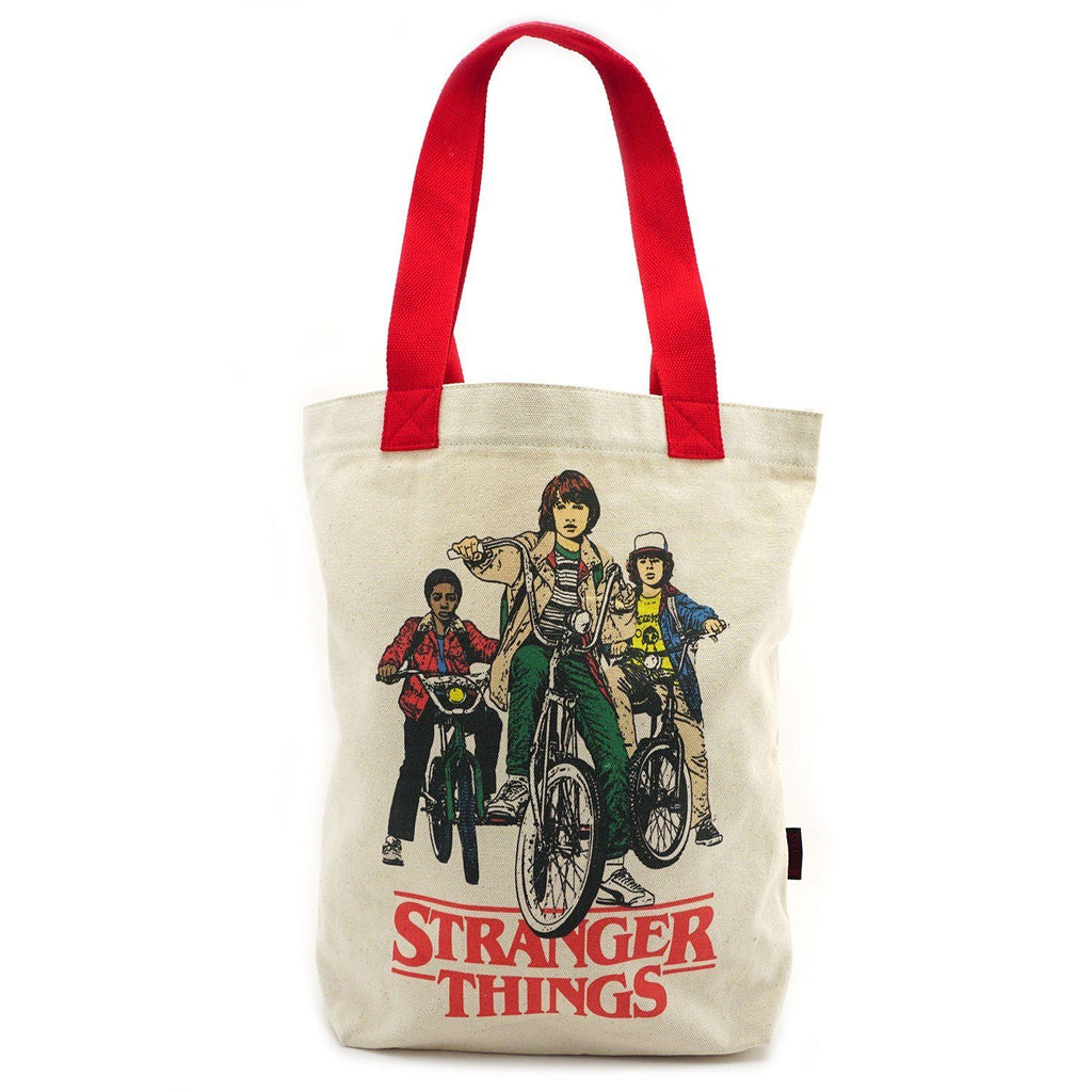 LOUNGEFLY Stranger Things Bike Gang Canvas Tote