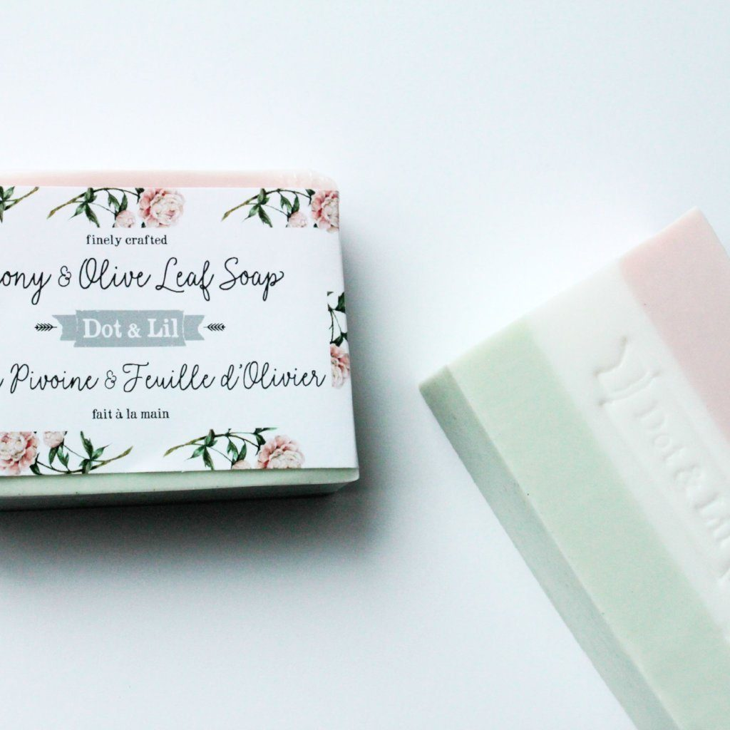 DOT & LIL Peony and Olive Leaf Soap