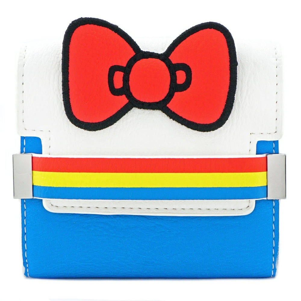 LOUNGEFLY x Hello Kitty 45th Anniversary Stripe Bow Bi-fold Wallet
