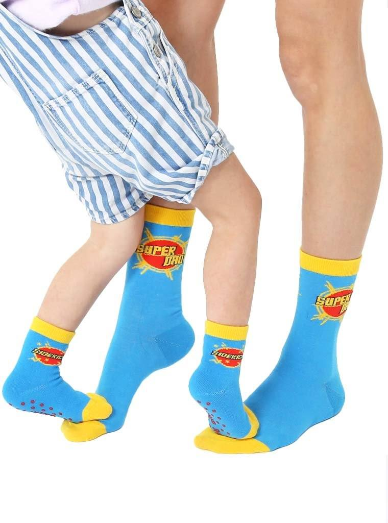 LIVING ROYAL Super Dad Me & Mini Socks