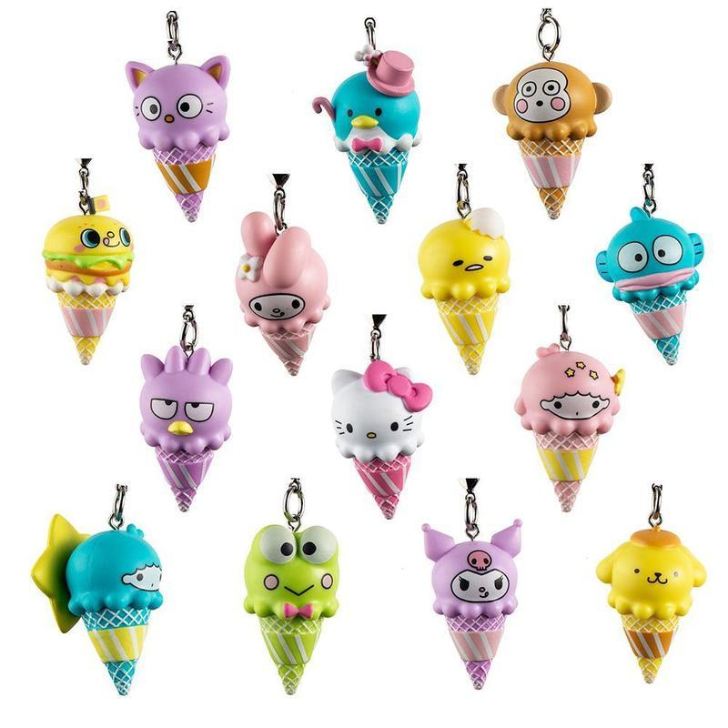 KIDROBOT x Hello Sanrio Ice Cream Cone Keychains - Blind Box