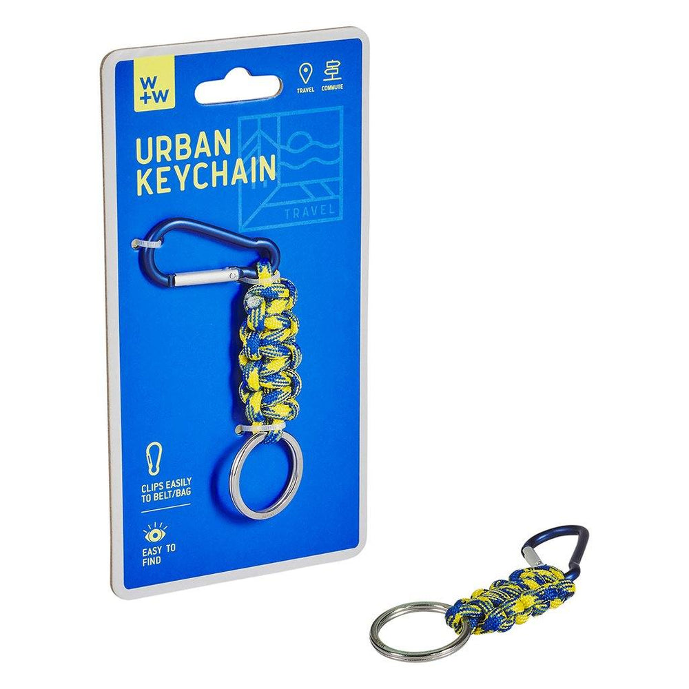 WILD + WOLF Urban Keychain - Yellow/Blue