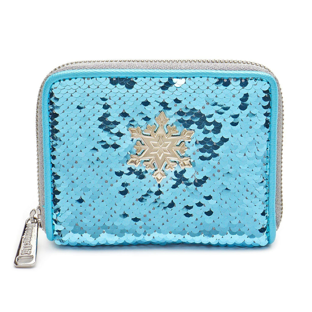 LOUNGEFLY x Disney Frozen Elsa Reversible Sequin Wallet