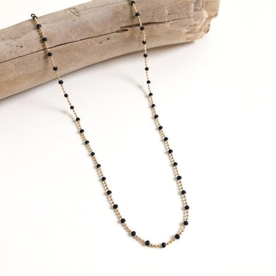 "Collier ""Shay"" noir instants-plaisirs"