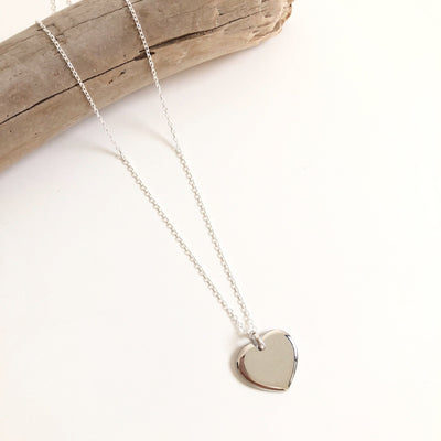 "Collier ""Heart"" argent instants-plaisirs"