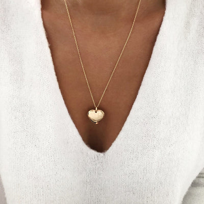 "Collier ""Heart"" plaqué or instants-plaisirs"