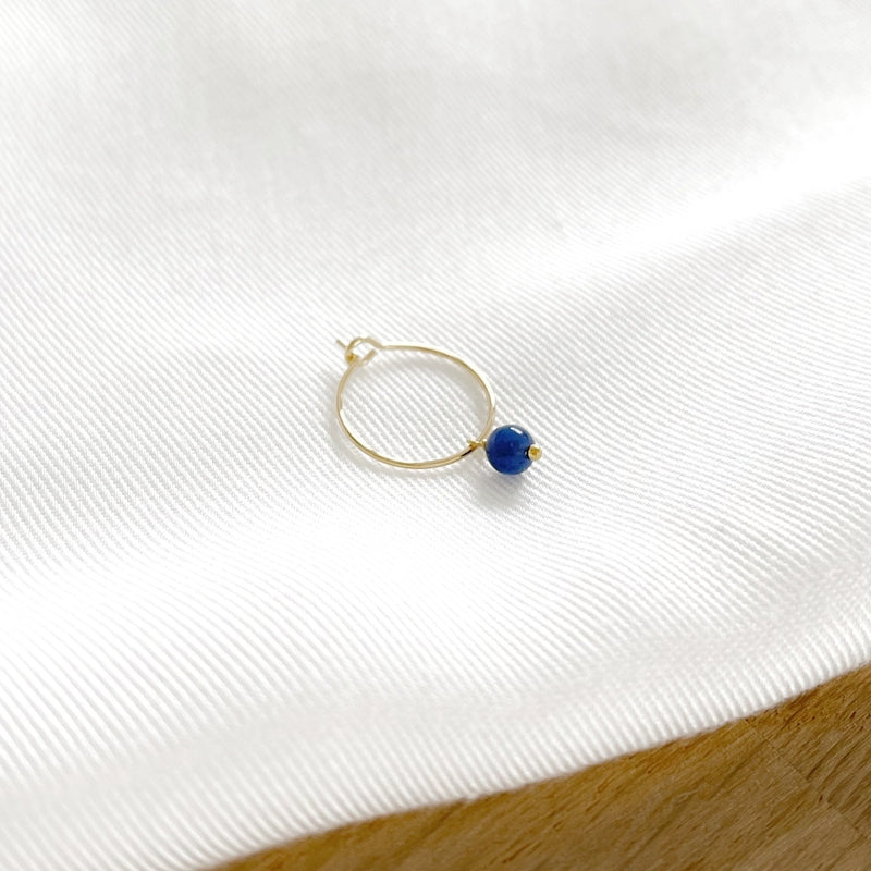 """Mono boucle """"Lucy"""" sodalite plaqué or"""