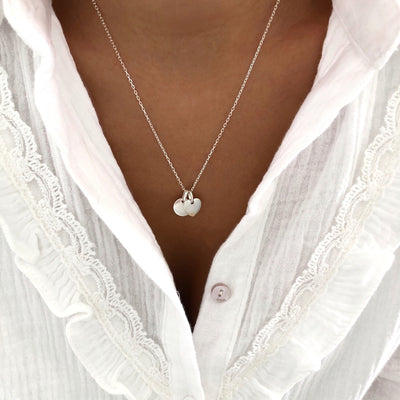 "Collier ""Lovely"" argent instants-plaisirs"