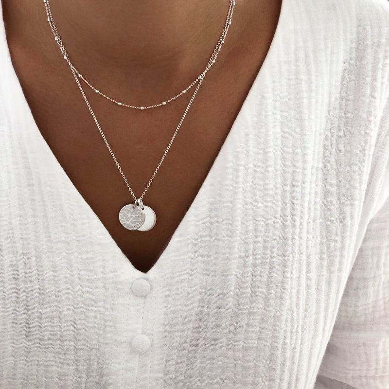 "Collier ""Lisy"" argent instants-plaisirs"