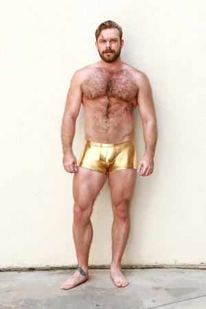 Gold Metallic Euro Shorts