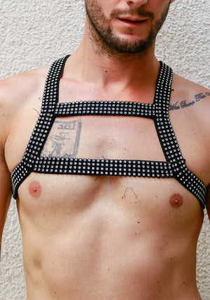 Black Rhinestone Harness