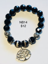 Load image into Gallery viewer, Various black mix/unisex bracelets.  Note: You will not be able to add to cart. Please contact me for ways to order.  Press 1st pic to reveal arrow or swipe to the right or upward to see more bracelets.