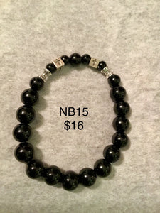 Various black mix/unisex bracelets.  Note: You will not be able to add to cart. Please contact me for ways to order.  Press 1st pic to reveal arrow or swipe to the right or upward to see more bracelets.