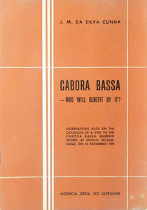 Livro - CABORA BASSA — WHO WILL BENEFIT WITH IT?
