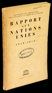 Livro - RAPPORT AUX NATIONS UNIES 1949-1950