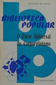 Livro - VALOR UNIVERSAL DO CORPORATIVISMO