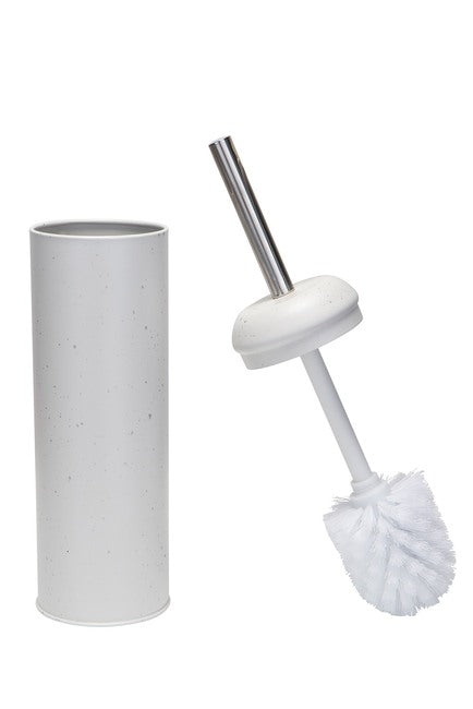 Elle Decor Speckled White Toilet Brush & Holder