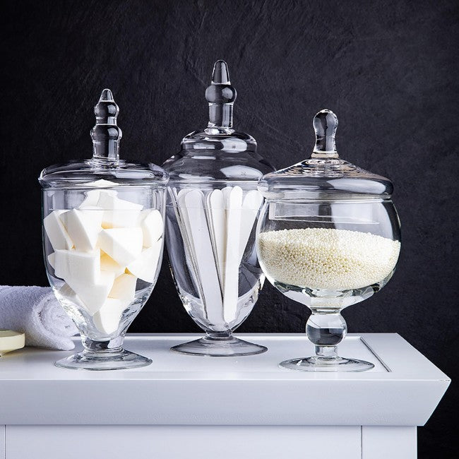 3 Piece Apothecary Glass Jar Set
