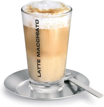 Blomus Latte Macchiato Set Includes Glass, Saucer, And Spoon
