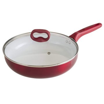 Ceramic Nonstick Deep Cooker Pan with Lid - 4.5 Quart