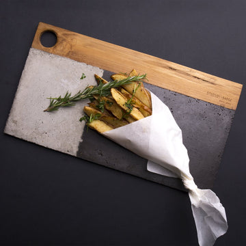 \\ Aitch Concrete Serving Platter