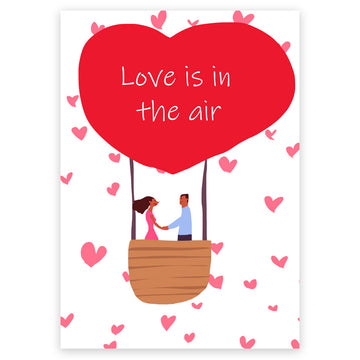 Love is in the Air - Wedding Card