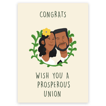 A Prosperous Union - Wedding Card