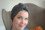 Grey Striped Turban