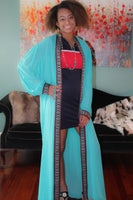 Cyan/Red Traditional Tunic