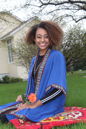 Blue Long Sleeve Tunic/Abaya