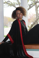 Black & Red Tunic/Abaya